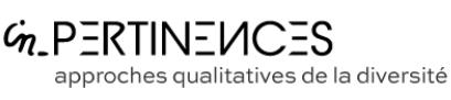 Logo In-pertinences et sous-titre